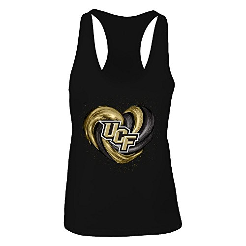 FanPrint UCF Knights Tank Top - Hurricane Heart - Original - Women