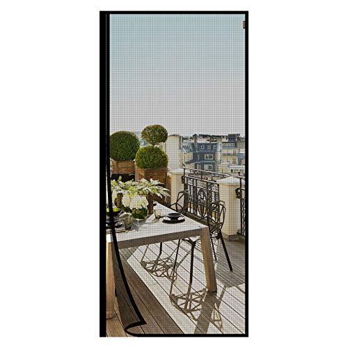 MAGZO Fiberglas Magnet Fliegengitter Tür 100x220cm von der Seite öffnen, Verstärkt Insektenschutz Fliegenvorhang mit Klettverschluss, Moskitonetz Automatischesm Schließen Insektenschutz Ohne Bohren