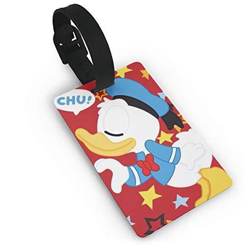 Etiquetas para Equipaje WSXEDC con diseño de Pato Donald y Etiqueta para Maleta, Accesorios de Viaje