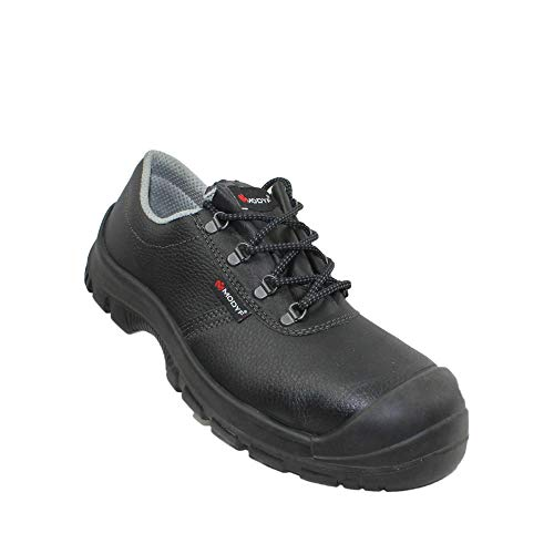 Modyf Construction Shoe Pro UK S3 SRC Calzado de Seguridad Calzado de Trabajo Calzado de Trekking Plano Negro, Tamaño:38 EU