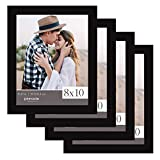 Pinnacle Frames & Accents Classic, Set of 4 Picture Frame Set, 8' x 10', Black
