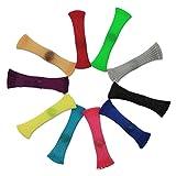 taianle 10 Paquetes de Juguetes Fidget 8 Colores Juguetes de Alivio del Estrés Sensorial para Niños Adultos Canicas Tubo de Malla Trenzada Juguete Juguetes de Descompresión Antiestrés