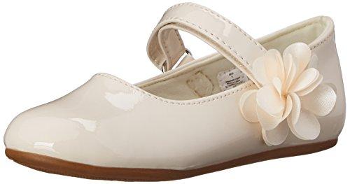 Baby Deer Girls' Mary Jane Skimmer First Walker Shoe, Ivory, 8 M US Toddler
