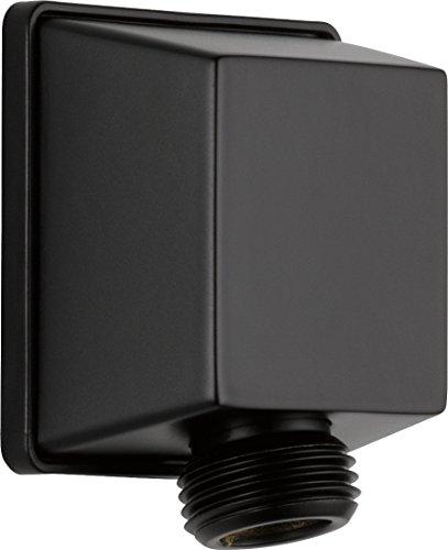 DELTA 50570-BL UniversalShoweringComponents Square Wall Elbow for Hand Shower, Matte Black