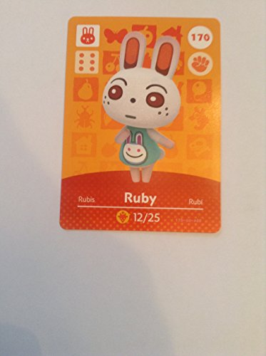 Nintendo Animal Crossing Happy Home Designer Amiibo Card Ruby 170/200 USA Version