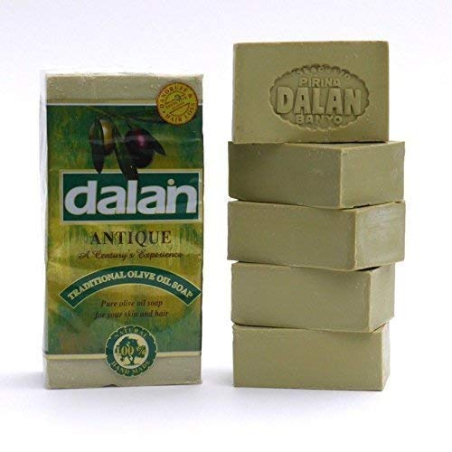 5 x 180g Bar Natural 100% Pure Olive Oil Soap Dalan Turkish Bath Handmade...