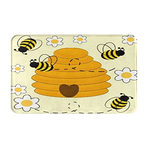 CVSANALA Antideslizante Suave Alfombra de Baño,Taza de café Flower Daisy Honey Diente de león,Micro Personalizado Decoración del Hogar Baño Alfombra de Piso,80 x 49 CM