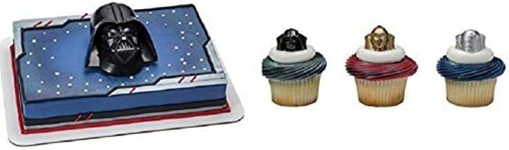 STAR WARS DARTH VADER R2 D2 CUPCAKE RINGS PARTY FAVORS CAKE  12 PC C3PO