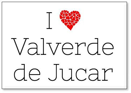 Mundus Souvenirs - Amo Valverde de Jucar, Imán para Nevera (diseño 3)