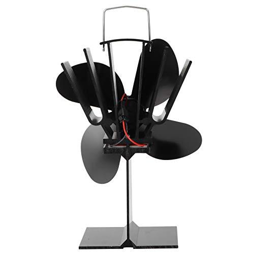 SALALIS Ventilador de Estufa, Ventilador de Calor 21x13.5x12cm Ventilador de Chimenea para chimeneas para Promover la Temperatura Interior