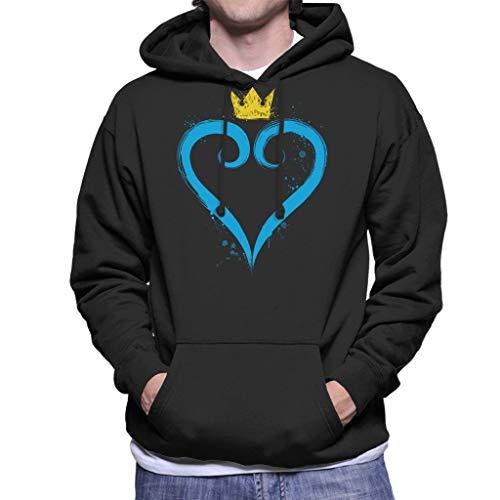 Cloud City 7 Kingdom Hearts Crown Heart Men's Hooded Sweatshirt