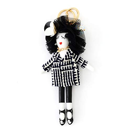 バッグチャーム 大人 かわいい オシャレレディードールチャーム レース ビジュー サングラス 人形 大人 キーホルダー 女の子 アフロ バックチャーム レディース レデイース キ-ホルダ- バッグ チャ-ム vnsa-c493 (B)