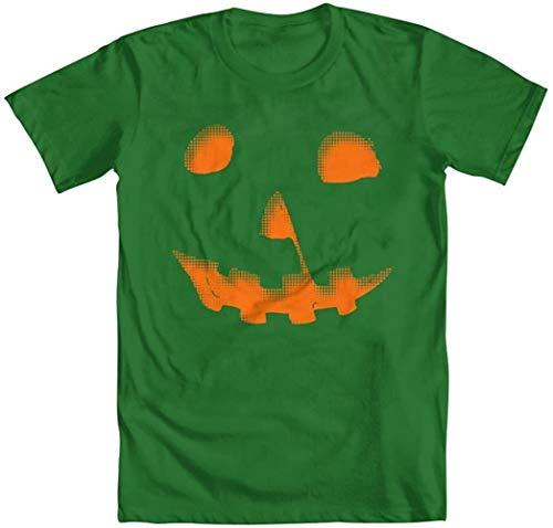 Men's Michael Meyers Halloween Pumpkin T-Shirt,Kelly Green,XXX-Large