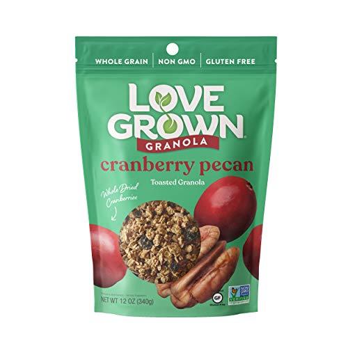 Love Grown Sweet Cranberry Pecan Oat Clusters, 12 oz. Bag, 3-Pack