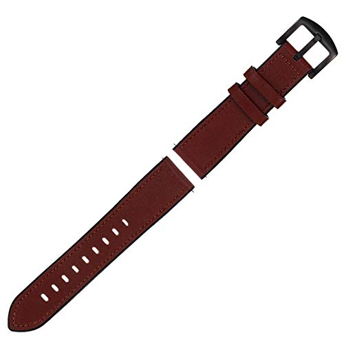 UKCOCO Correa de Reloj de Silicona con Cambio de Correa de Reloj Compatible con Samsung Galaxy Watch (Marrón)