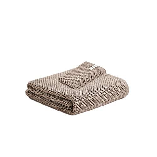 Toallas Baño Pack de 2 Toallas de Baño Set Toallas de Playa Suaves de Algodón Muy Absorbente de Secado Rápido Estropajos Yoga Gimnasio del Hotel Toalla Microfibra (Color : Brown)