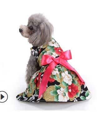 Tabpole Ropa de perro lindo vestido de perro con lazo lazo adecuado...