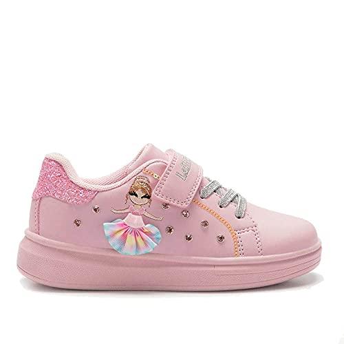 Lelli Kelly Millestelle Rosa Sneaker da Bambina Soletta in Pelle Anatomica Lacci Elastici LK4826 (Numeric_33)