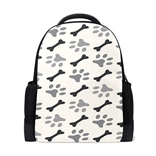FANTAZIO mochila con colgantes de hueso y pata de perro mochila escolar mochila