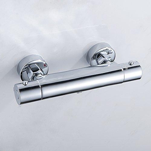 miuline Grifo Termostato de Ducha con el Botón de Seguridad 38 ℃ Grifo Termostatico Bañera Mezclador Termostático Bañera 20-50℃
