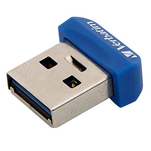 Verbatim 98711 Store 'n' Stay NANO USB 3.2 Gen 1 Stick- 64 GB im superflachen Design für Autoradios mit USB-Anschluss, blau