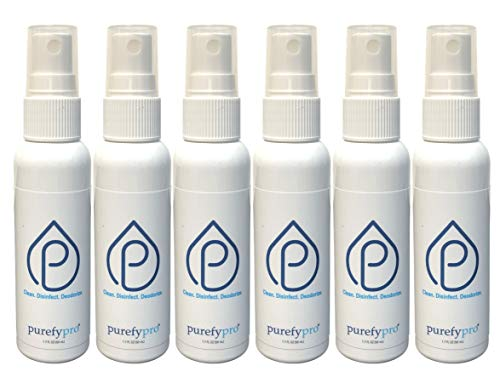 Purefypro Disinfectant Spray (1.7oz, 6 Pack) - No Rinse. No Residue....