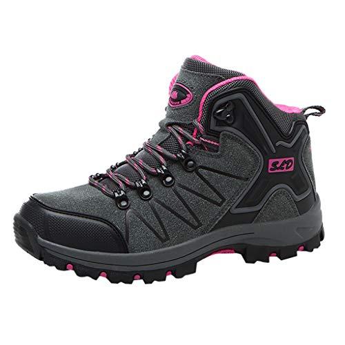 HDUFGJ Herren Damen Trekking-& Wanderschuhe Wanderschuhe rutschfeste Outdoor-Schuhe Sneaker Leichtgewicht Laufschuhe Bequem Mode Freizeitschuhe Faule Schuhe Turnschuhe Fitnessschuhe 38(Grau)