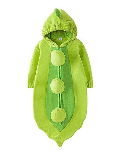 Guisante Frijol Bebé Ropa Equipar Disfraz Dormido Bolso Envolver Sleepsack Saco de Dormir Guisante
