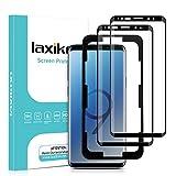 laxikoo 2 Piezas Protector Pantalla para Samsung Galaxy S9, 3D Curvo Cristal Templado [Cobertura Completa] [con Marco Instalación] Alta Sensibilidad Sin Burbujas Vidrio Templado para Samsung Galaxy S9
