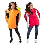 Apple & Orange Halloween Couples Costume - Adult Unisex Funny Fruit Food Outfits