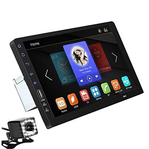 SODIAL Prensa de 9 Pulgadas Mirrorlink Auto Audio Player 2 DIN Car Radio Mp5 Player Multimedia Player con CáMara 12Led