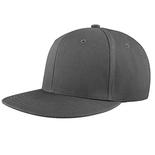 KELOYI Snapback Gorras Hombre Mujer de Béisbol Cap Gris Oscuro Ajustable Transpirable Cómoda Casuales Moda Classic