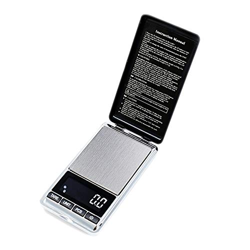 Xinyouluu mobiele telefoon type elektronische schaal sieradenpoeder van roestvrij staal, hoge precisie, elektronische weegschaal, 300 g/0,01 g