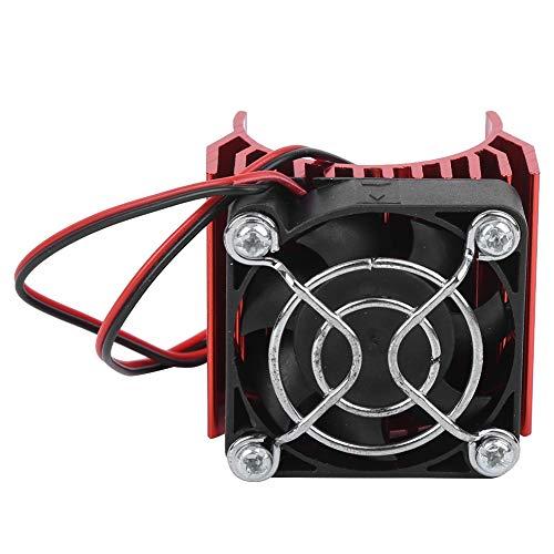 Dilwe 36MM Motor Kühlkörper Kühler Fin Fahrzeuge Kraftteile Passend für RC Car 540/3650/3660/3670 Motor Kits im Maßstab 1:10(rot)