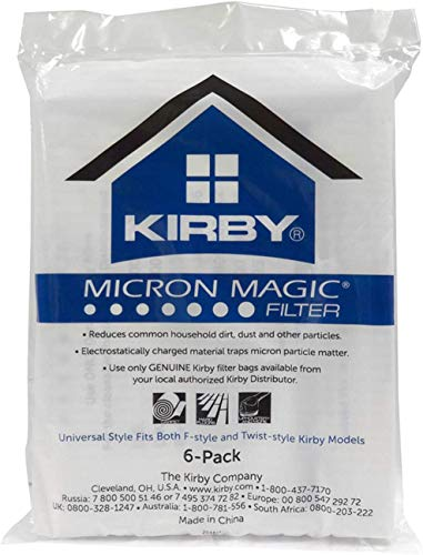 Kirby Allergen Reduction Filters, 204811 (6 pack)(Packaging may vary)