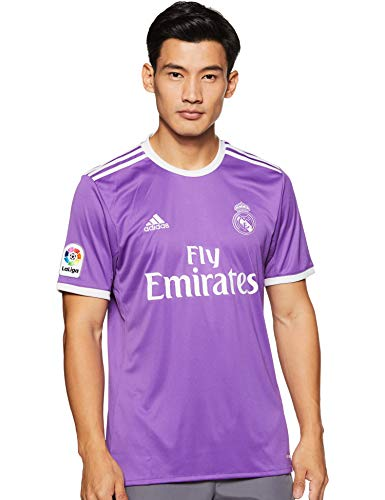 adidas Real Madrid 2016/17 Short Sleeve Away Jersey - Adult - Ray Purple/Crystal White - S