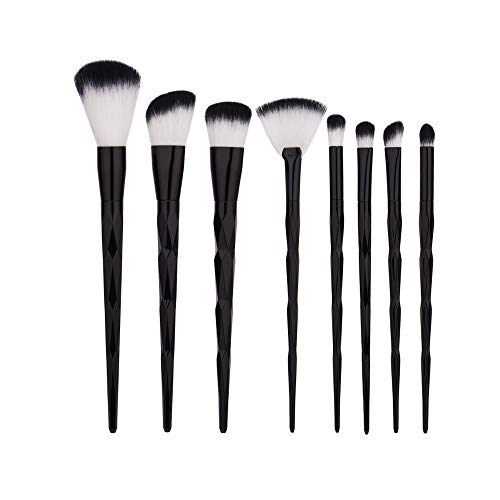 MEIYY Pinceau de maquillage Make Up 8Pcs Black Makeup Brushes Set Foundation Eye Shadow Makeup Brushes Eyeliner Lip Blush Brushes