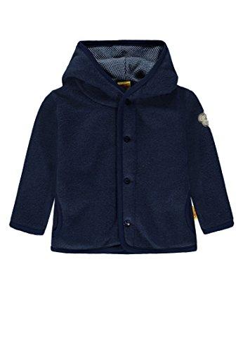 Steiff Baby-Jungen Fleece Jacke, Blau (Medieval Blue|Blue 3062), 62