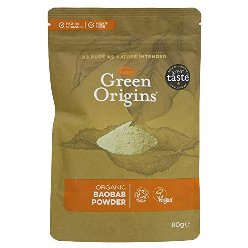GREEN ORIGINS | Baobab Powder Raw Organic | 1 x 80g (ES)