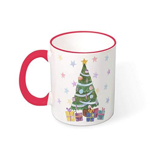O2ECH-8 11 oz Christmas Tree New Year Meisjes Meisjes Mok met handvat porselein Retro Mokken - Meisjes Giften, geschikt voor restaurant te gebruiken