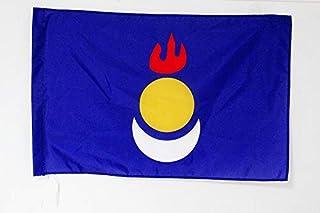 Inner Mongolia Autonomous Region Flag 2' x 3' for a Pole - Nei Mongol Flags 60 x 90 cm - Banner 2x3 ft with Hole - AZ FLAG