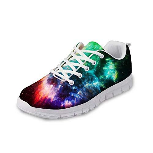MODEGA Galaxie-Druck-Schuhe bunt schillernde Schuhe Turnschuhe für Männer Schuhe für Frauen Plus Größe Bowlingschuhe Vintage Badmintonschuhe gehen Schuhe für Frauen Plus Gr Größe 42 EU|7.5 UK