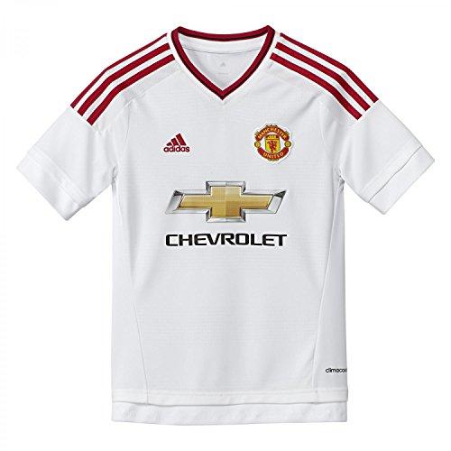 adidas MUFC A JSY Y - Camiseta para niño, Color Blanco/Rojo, Talla 128