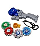 JABA'S® 4 in 1 Beyblades Metal Fighter Fury with Fight Ring and Handle Launcher   4D Fusion...