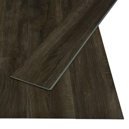 vidaXL PVC Klick Dielen Bodenbelag Rutschfest Vinylboden Vinyl Fußboden Designboden Dielenboden Landhausdiele 3,51m² 4mm Dunkelbraun