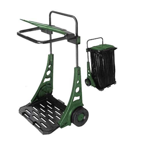 Bricoloco Carro jardín basura 90x53x38. Carro para desechos de jardinería, patios, camping o barbacoa. Carro jardinería cómodo con asa, dos ruedas grandes Plástico resistente a clima (1)