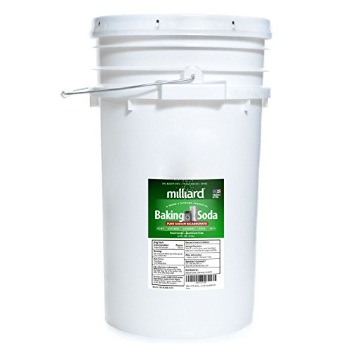 Milliard 50 lbs Baking Soda / Sodium Bicarbonate USP - 50 Pound Bulk Resealable Pail