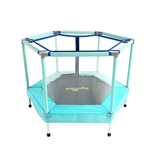 Bed rails Xiaomei Indoor Outdoor Trampoline Trampolines for Kids with Safety Net for Children Best Birthday Gifts Good Exercise Tools Used in Home, Outdoor (Color : Blue, Size : 48inch)