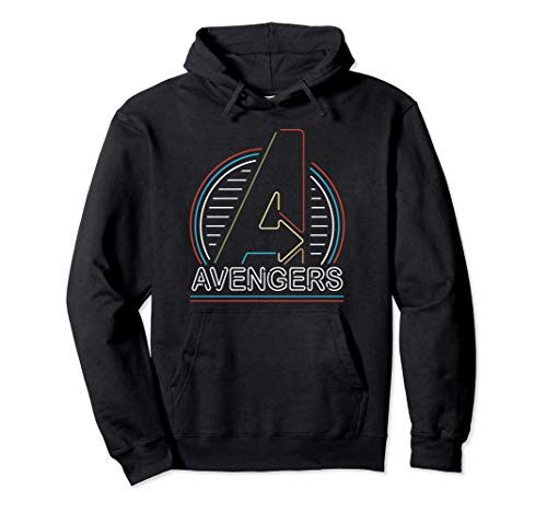 Marvel Avengers Logo in Neon Lights Sudadera con Capucha