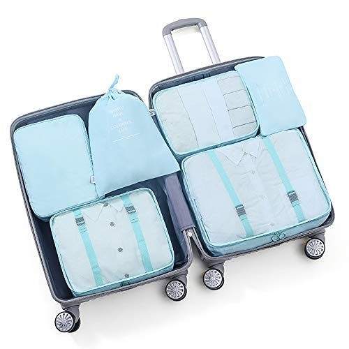 Loriver Packing Cubes Luggage Storage Organiser Travel Compression Suitcase Bag